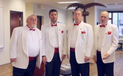 Traverse City Barbershop Quartet Serenades Valentines