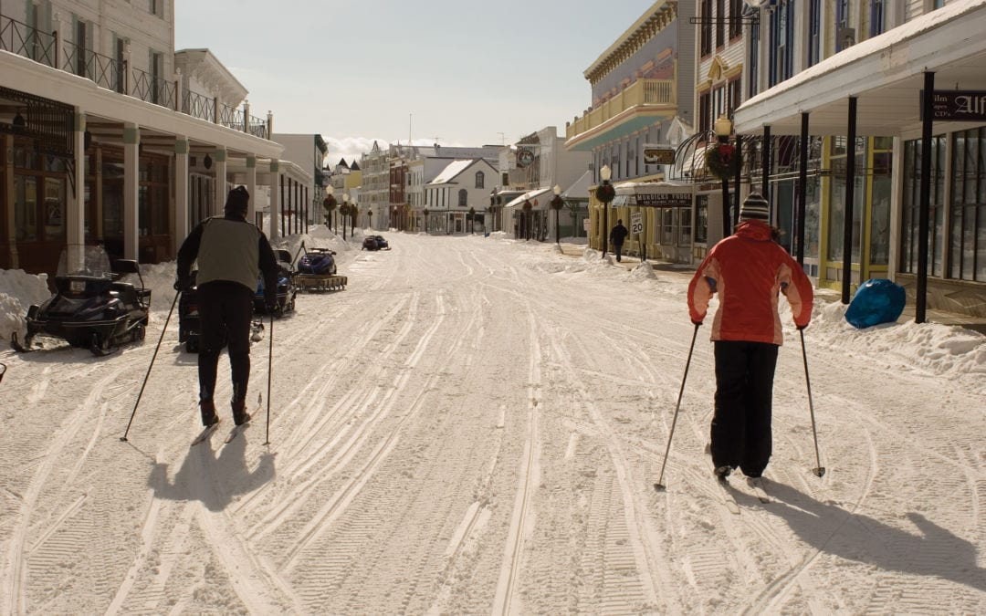 mackinac island skiing