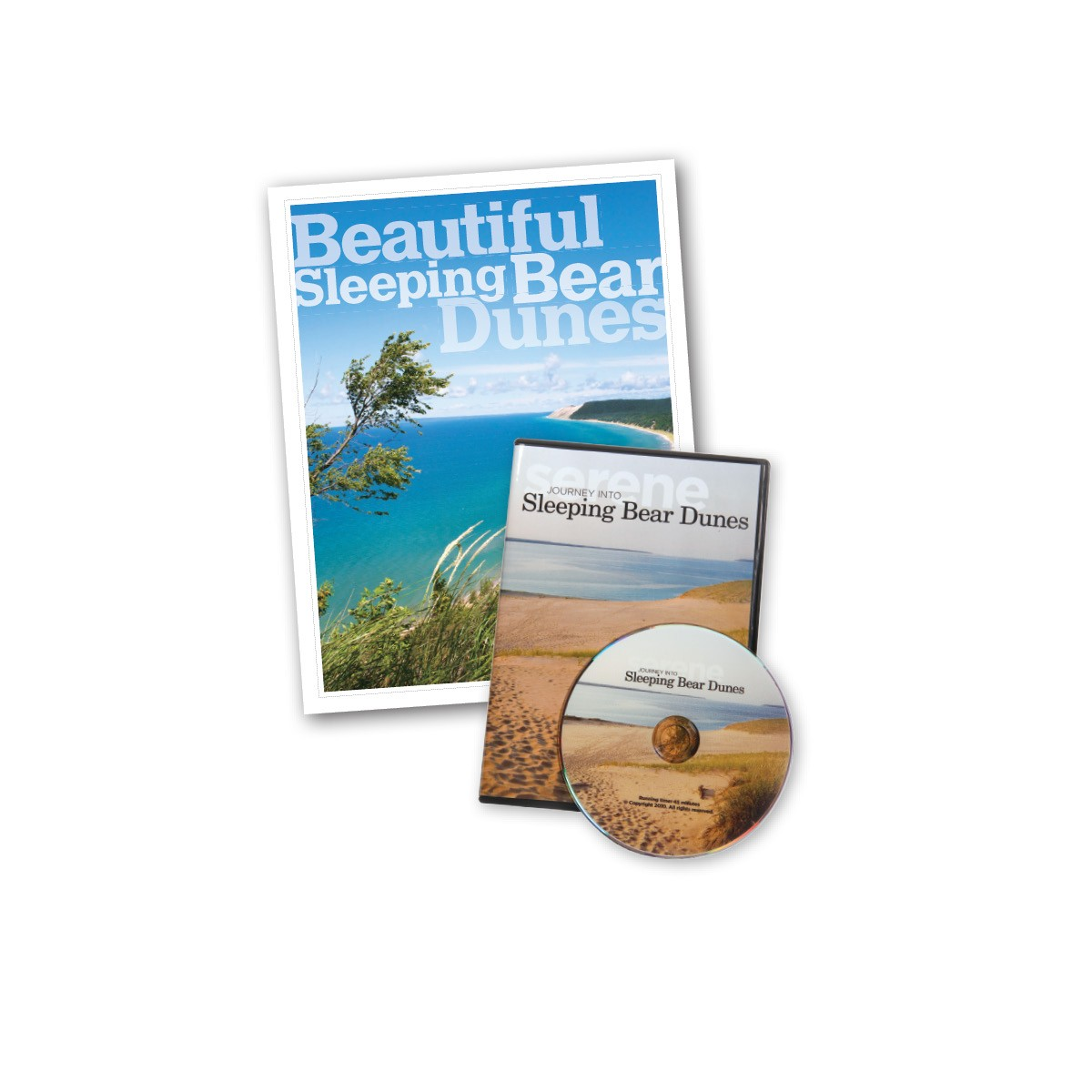 Beautiful Sleeping Bear Dunes Book and DVD Package brings the Sleeping Bear Dunes to life!