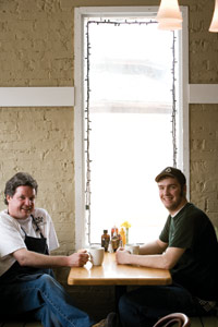 Tom McKenna (LEFT) with son and sous<br /> chef Patrick McKenna.
