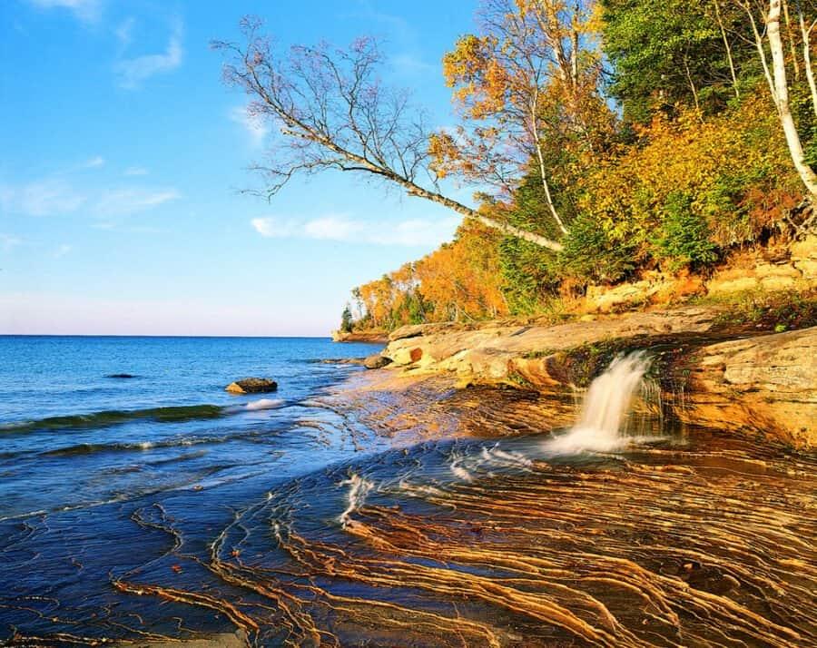 potato patch falls, pictured rocks, waterfalls, upper peninsula