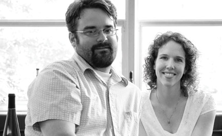 Bryan and Jen Ulbrich at Left Foot Charley winery.