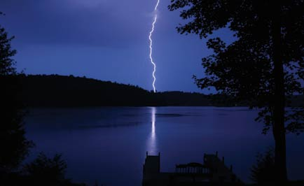 A lightning bolt is about the diameter of a quarter or half-dollar.
