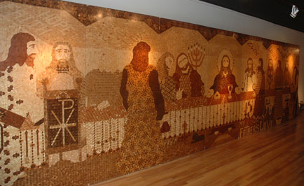 The Marquetry of Ed Lantzer: My Father's Love, on exhibit now in Petoskey.