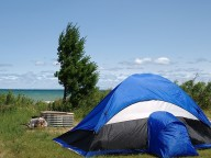camping on lake michigan