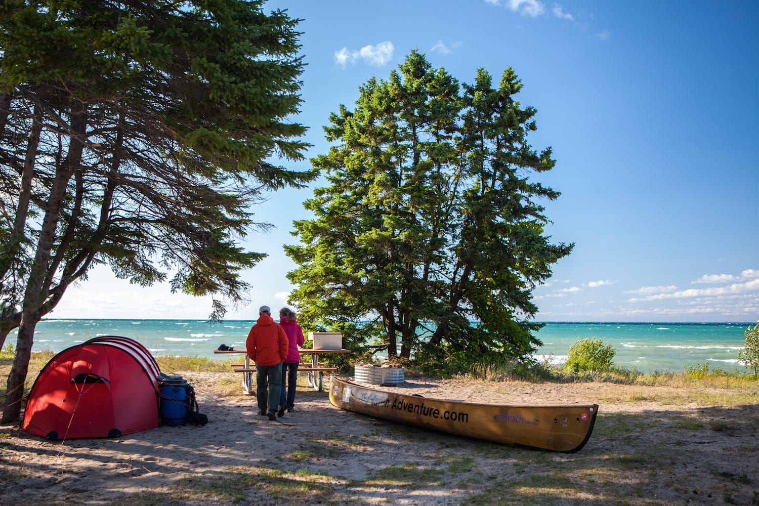 Ideas For Calendar Art : Camping by the water in northern michigan mynorth