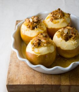 baked apples with rum