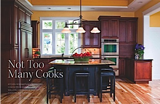 Get the full feature with photos of this kitchen designed for many cooks!