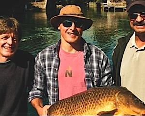 Michigan Carp Fishing on Boardman River in Downtown Traverse City