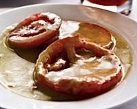Mollie's gazpacho at Chimney Corners Resort using rip Michigan tomatoes.
