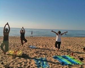Traverse City Yoga On The Beach