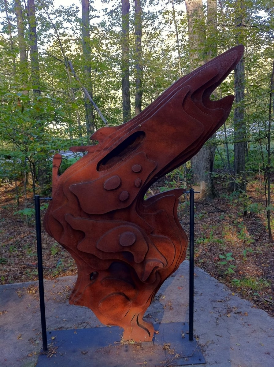 Brian Ferriby's Sculpture of Lake Superior in Michigan Legacy Art Park