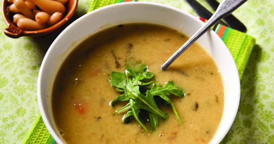 Sunchoke and leek soup