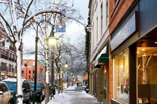 Perfect Winter Afternoon In Downtown Traverse City