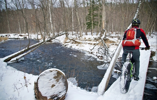 Winter Mountain Biking On Marquette Michigan S South