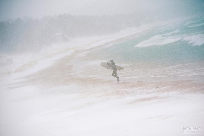 Winter Surfing – Van's Beach, Leland