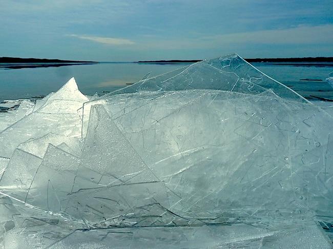 sheets of ice on torch lake  u2013 mynorth com