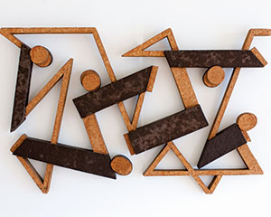 Manierre Dawson  •  Untitled (Labyrinth), 1955  •  Composite Wood, 28 x 48 in. Collection of West Shore Community College, Gift of the Artist, 1969