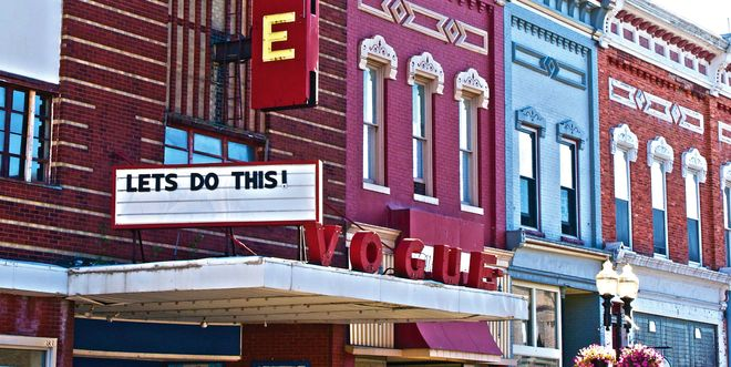 Michael Moore Helps Manistee Vogue Theatre Reopen