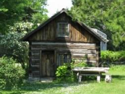 native log cabin