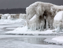 Sleeping Bear Point-Winter Ice Formations