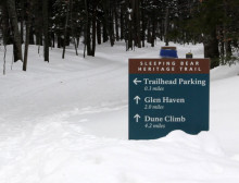 Skiing the Sleeping Bear Dunes Heritage Trail