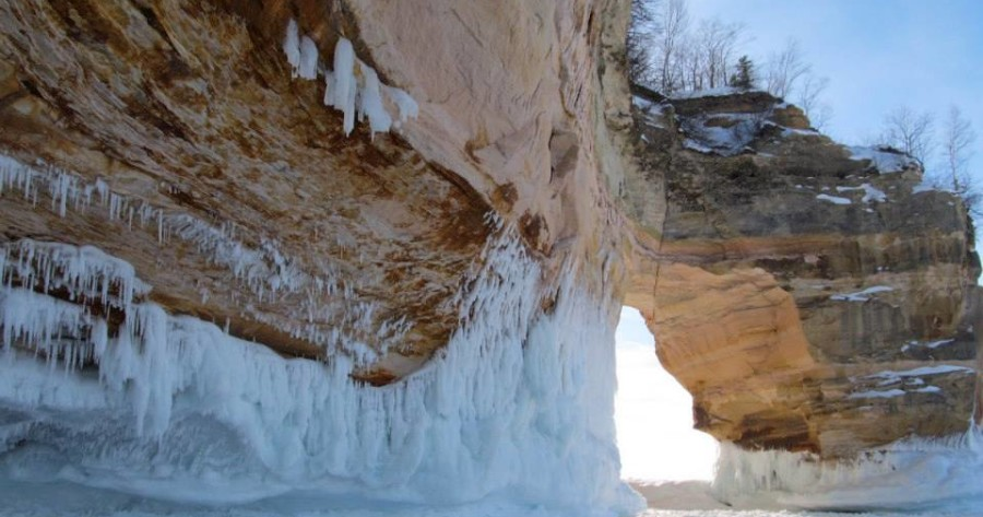 The majestic arch at Pictured Rocks National Lakeshore.