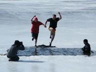 Pentwater Winter Festival's Polar Dip