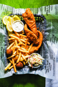 Perch Basket at Petoskey's Freshwater Grill