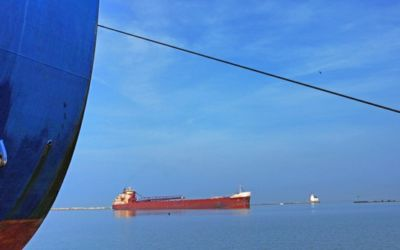 Great Lakes Freezing: Shipping Stalls as Ice Stays