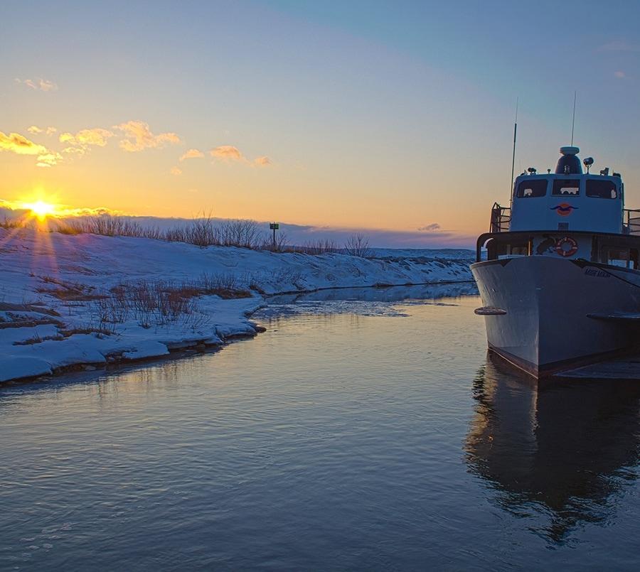 sunset_lelandboat