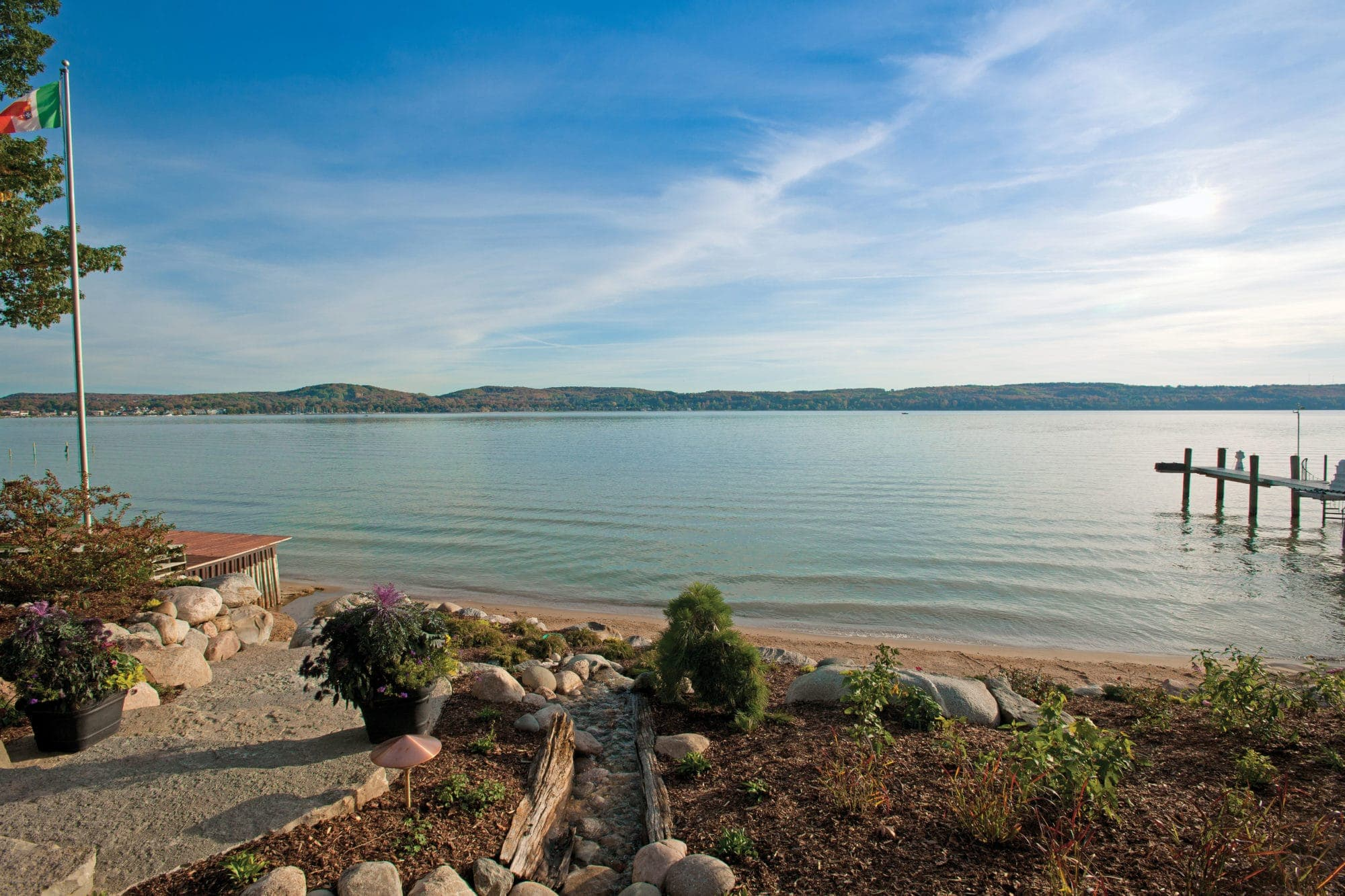Charlevoix Home With Stunning Stone Landscaping Mynorth Com