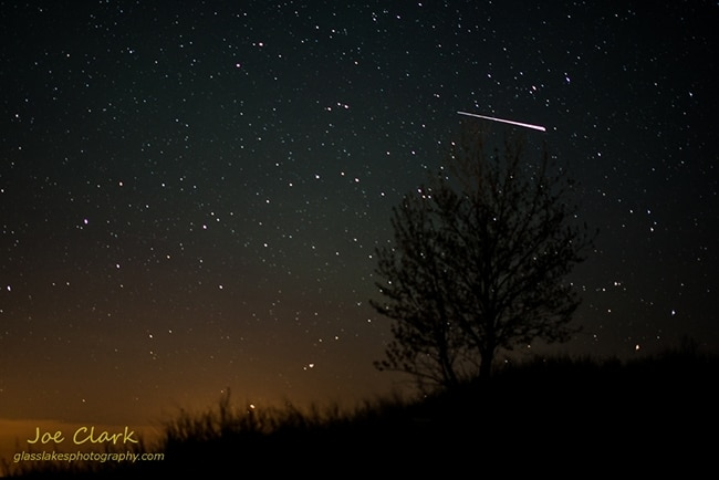 meteor over ludington state park photo joe clark. Black Bedroom Furniture Sets. Home Design Ideas