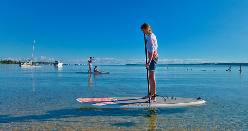 northern Michigan standup paddle boarding