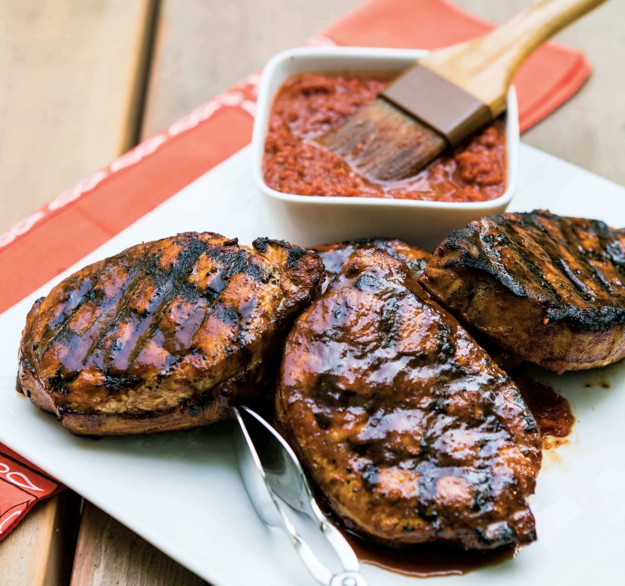 Batali's Pork Chops with Cherry Barbeque Sauce - MyNorth.com