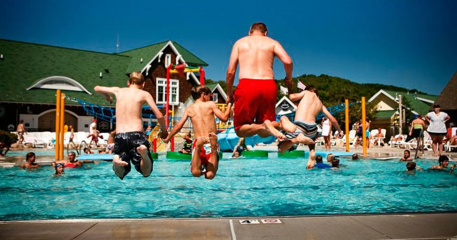 Crystal Mountain's outdoor pool. Photo by Crystal Mountain.