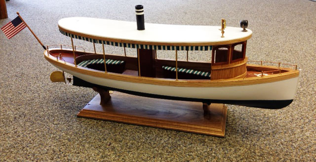 A model of the proposed river boat.