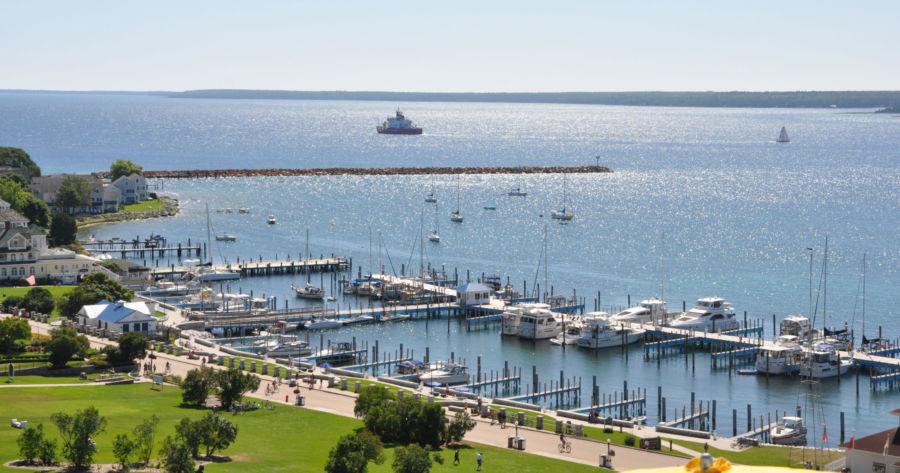The Mackinac Island State Harbor