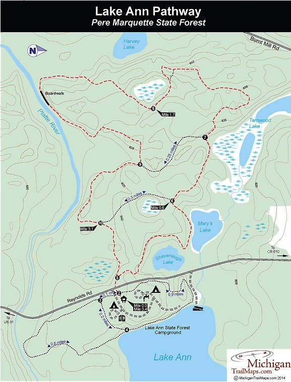 Lake Ann Pathway Trail Map