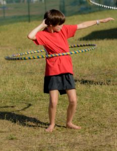 Hoxeyville hula-hooper: the festival is equally entertaining for kids.