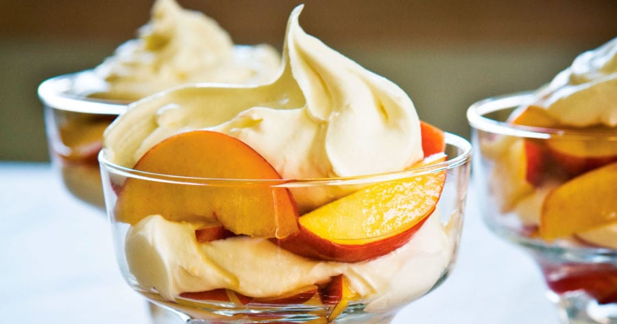 Find the recipe for amaretto nectarines with mascarpone whipped cream below