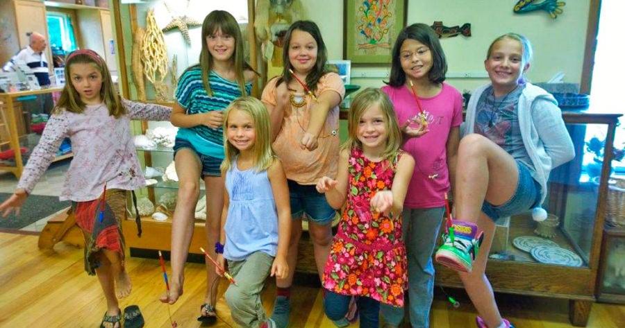 GUTSEE Girls at the ready! From left: Lidia Frasz, Sarah Johnson, Norah Frasz, Kayden O'Neil, Katelyn Dittmar, Kami Chapp and Jade Fazio.