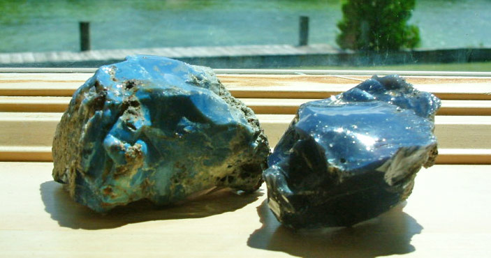 Leland Blue A Way Of Life In Northern, Blue Slag Glass Chunks