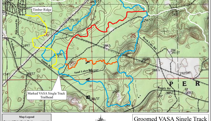 Vasa Snow Bike Trail Map