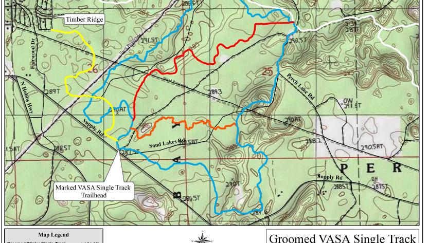 Vasa Snow Bike Trail Map