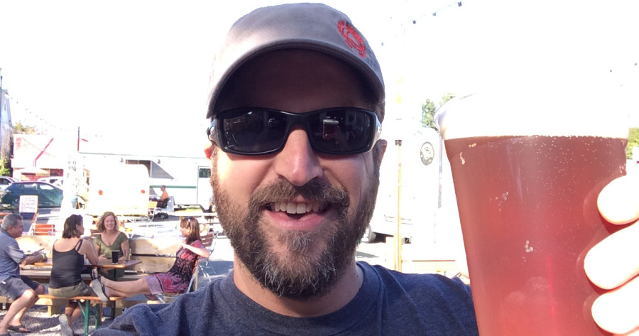 Selfie, by Pete Kirkwood, founder of Workshop Brewing Company