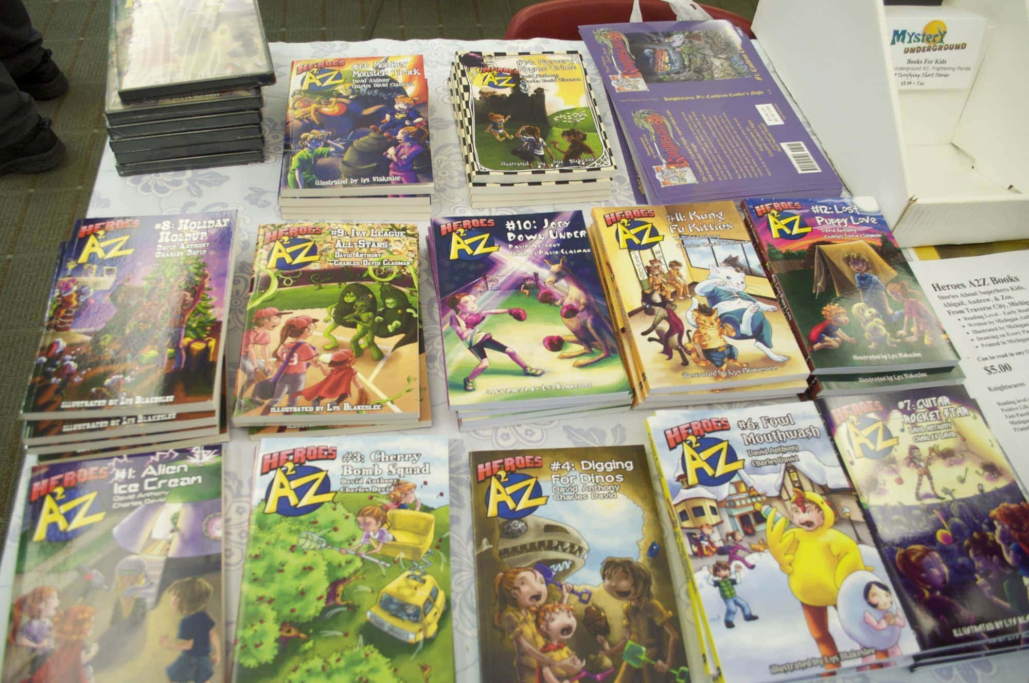 """Heroes A2Z"" and ""Knightscares"" are popular series that are perfect gifts for young readers."