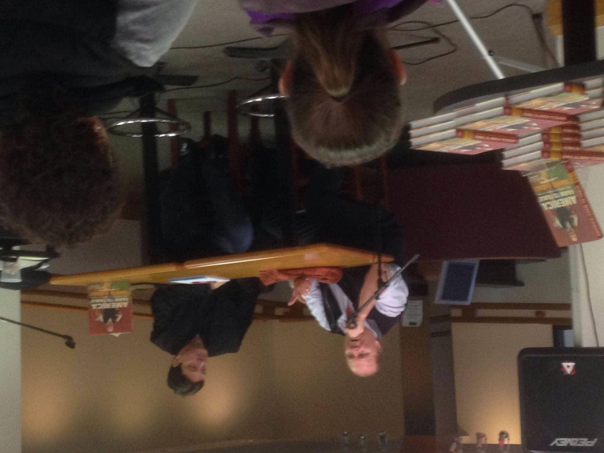 Mario Batali with Rick Coates at Horizon Books, Traverse City