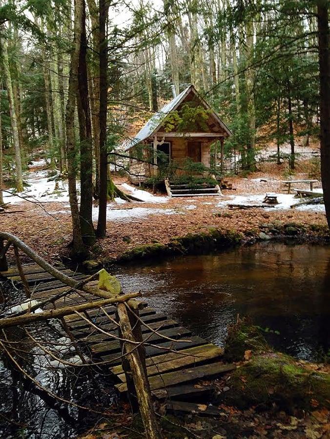 old cabin in the woods  cedar run creek natural area