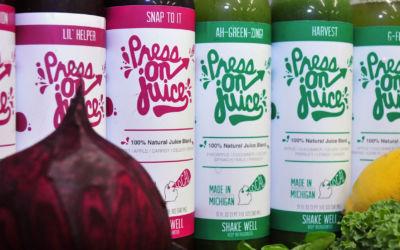 Press On Juice Wins Best Small Business Award from Michigan Small Business Development Center